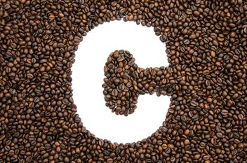 Alphabet of coffee beans - бесплатный image #451887