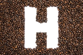 Alphabet of coffee beans - image gratuit #451897