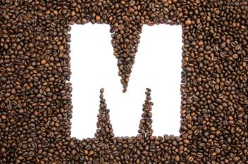 Alphabet of coffee beans - бесплатный image #451907