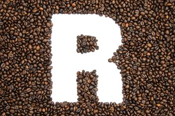Alphabet of coffee beans - бесплатный image #451917