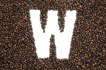 Alphabet of coffee beans - image gratuit #451927