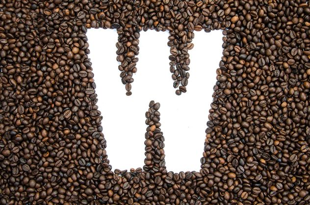 Alphabet of coffee beans - Free image #451927