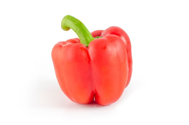 Red paprika isolated on white background - image gratuit #452407