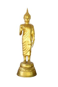 golden buddha on white background - image #452487 gratis