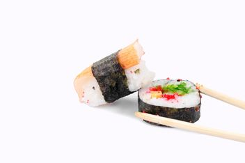 sushi white background - бесплатный image #452597