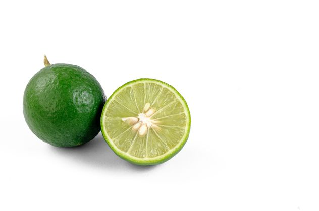 lime on white background - image #452607 gratis