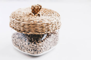Glass jar with sunflower seeds.jpg - Free image #453437