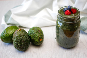 Avocado Green Smoothie in a Jar - Kostenloses image #455277