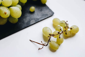 Close up of grapes on white background - Free image #455587
