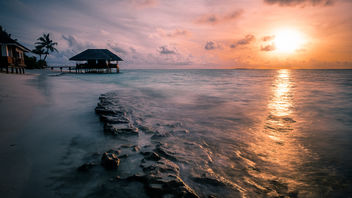 Sunset in Dhigufaru - Maldives - Travel photography - image #455617 gratis