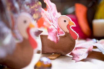 Handmade turkeys for thanksgiving decoration - бесплатный image #456227