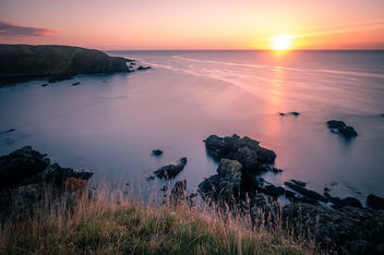 Sunrise in Stonehaven - Scotland - Seascape photography - бесплатный image #456427