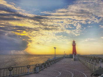 Sokcho Light house - sunrise - Free image #457657