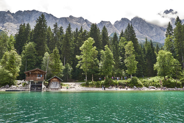 Emerald coloured waters of Lake Eibsee - Free image #458367
