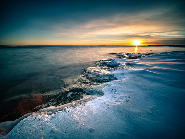 Sunset on the rocks - Helsinki, FInland - Seascape Photography - Kostenloses image #458477