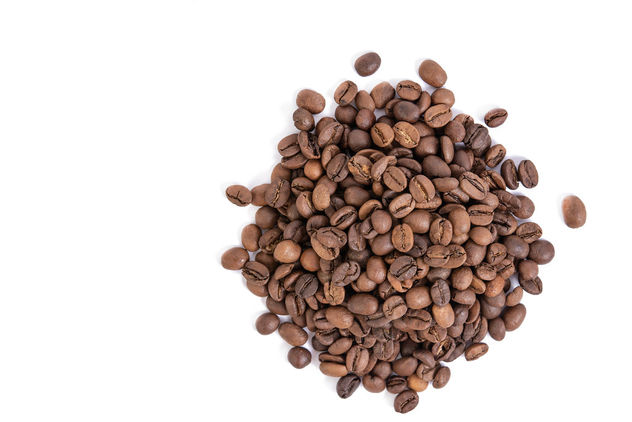 Top view of Raw Coffee isolated above white background - Kostenloses image #462307