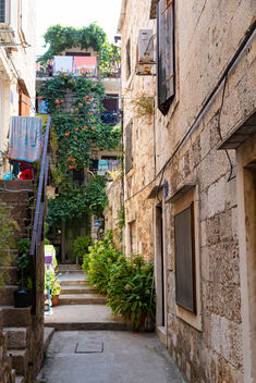Narrow street in Komiza, Croatia - Free image #463577