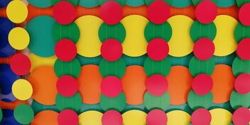 color pattern on a building wall - Free image #469037