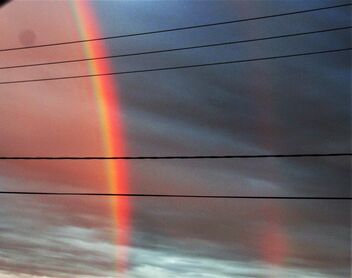Rainbow and electric wires - image gratuit #474107